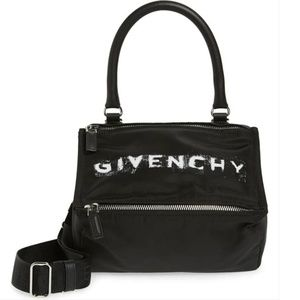 Givenchy Small Pandora Satchel Black Nylon